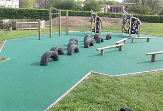 Green Wetpour Playground