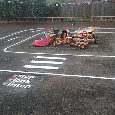 playground flooring markings
