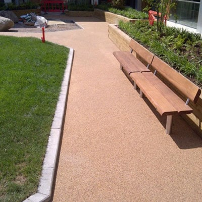 resin bound installed at park
