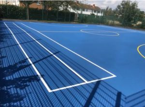 Cheltenham MUGA Colour Coating