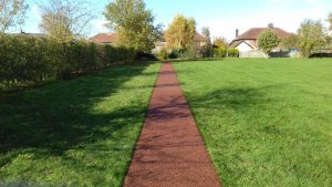 Rubber Mulch Track in Appleton, Warrington