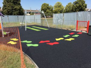 Wetpour in Westlands, Newcastle-under-Lyme