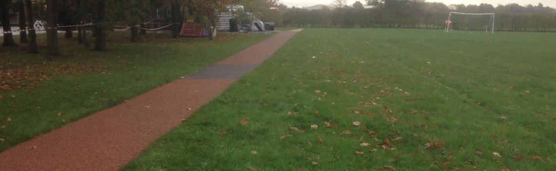 rubber mulch track