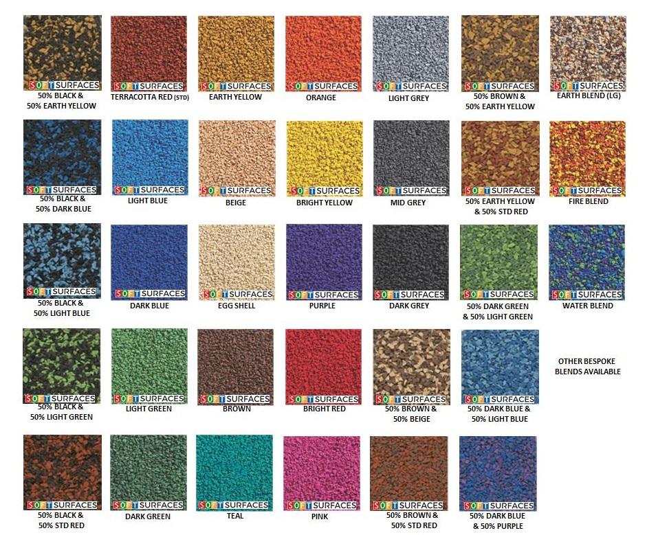 Soft Surfaces Wetpour Colour Range