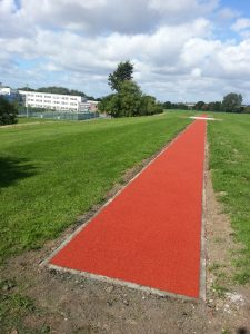 Polymeric Long Jump Pit Installation in Liverpool, Merseyside