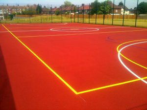 Polymeric MUGA Pitch Installation in West Sussex