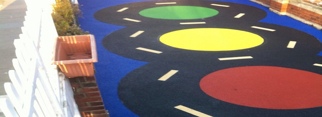 Wetpour Surface Installed in Cheltenham Gloucestershire