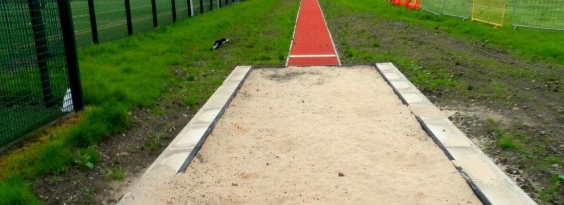 Polymeric Long Jump Installation in Glasgow