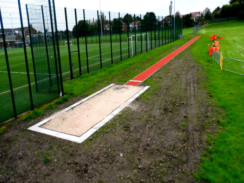 Polymeric Long Jump Runway Glasgow