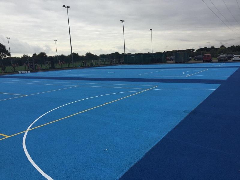Non Slip Sports Court Painting in Preston