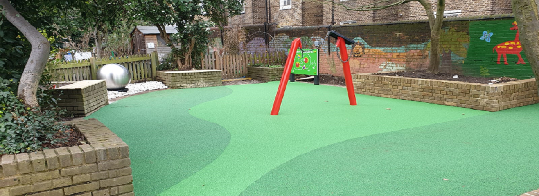 Playground Rubber Surface in Reading