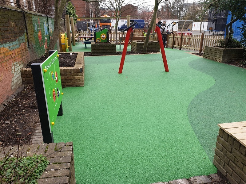 Rubber Safety Surfacing in Reading Berkshire