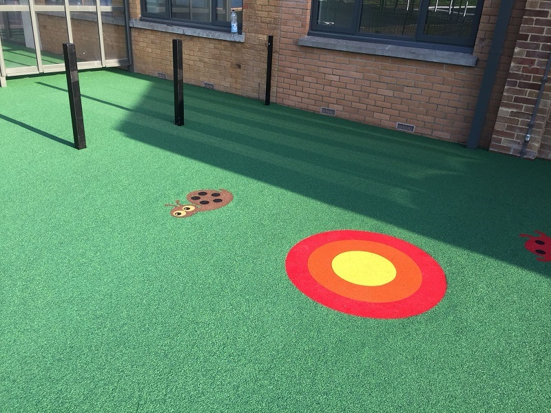 Wetpour EPDM Graphics in Wrexham Wales
