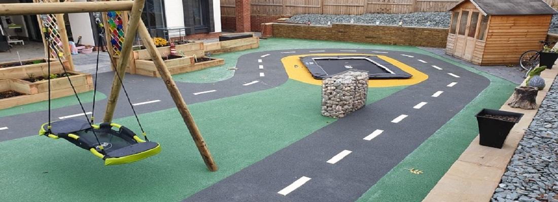 Wetpour Roadway Design Huddersfield