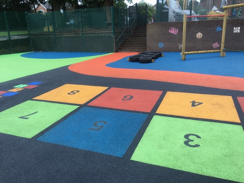 Wetpour Rubber Play Area Glasgow
