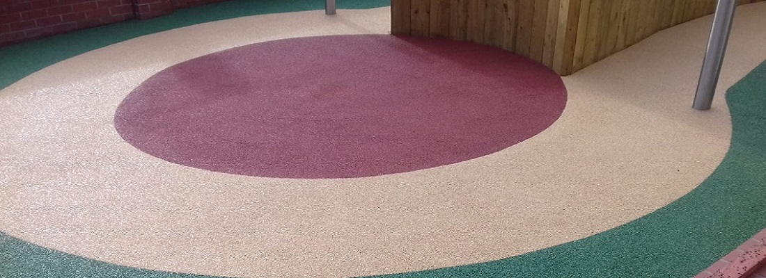 Wetpour Rubber Safety Surface in Lytham
