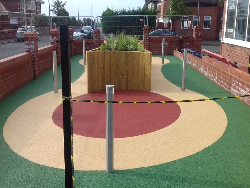 Wetpour Rubber Surface in Lytham