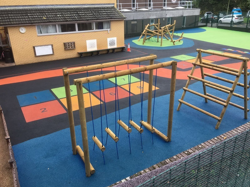 Wetpour Rubber Surfacing Installation in Glasgow