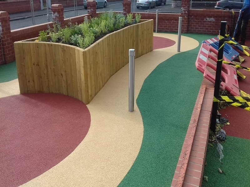 Wetpour Surfacing Installation in Lytham St Anne's