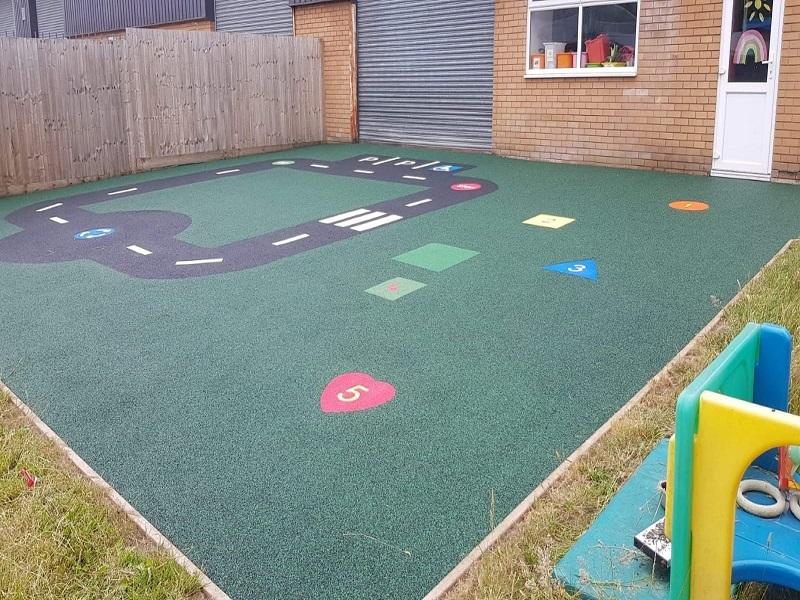 Nursery School Playground Wetpour in Preston