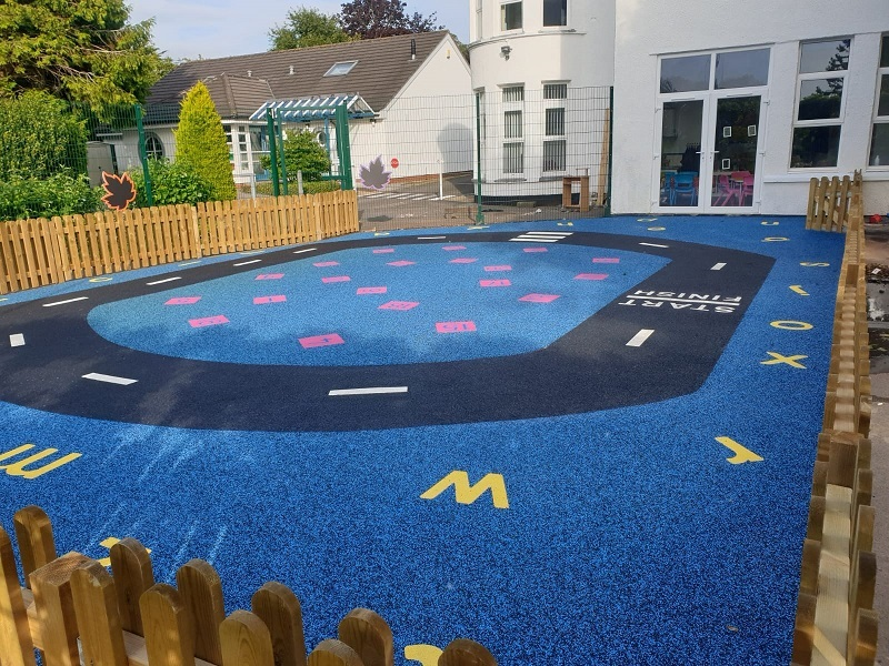 Wetpour Roadway Design in Cardiff