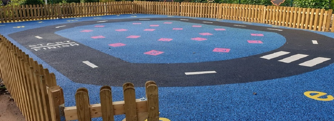 Wetpour Rubber Play Area in Cardiff