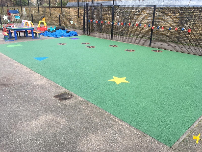 Wetpour Rubber Surfacing in Woking