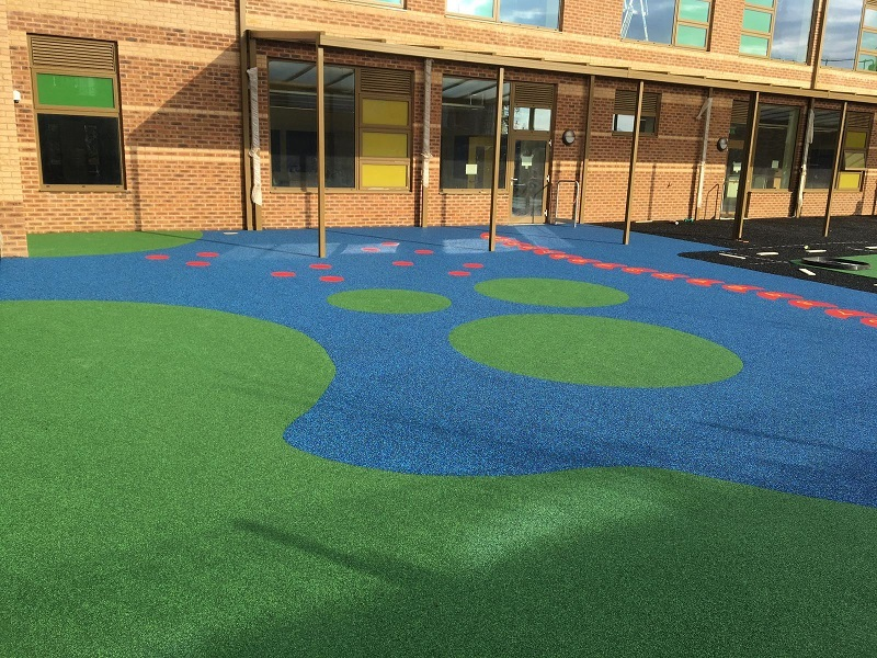 Colourful Wetpour Playground Wakefield