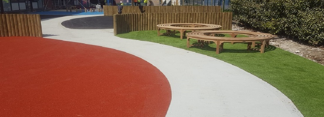 Rubber Wetpour and Artificial Grass in Middlesbrough