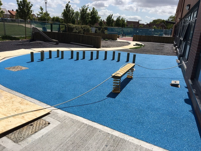Rubber and Artificial Grass Play Area in Middlesbrough