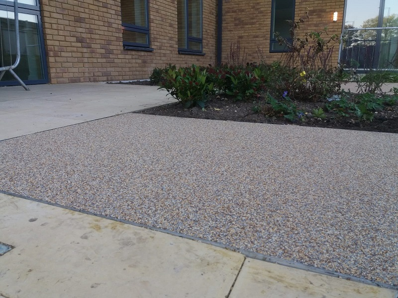 Wetpour Path at Retirement Home Leicester