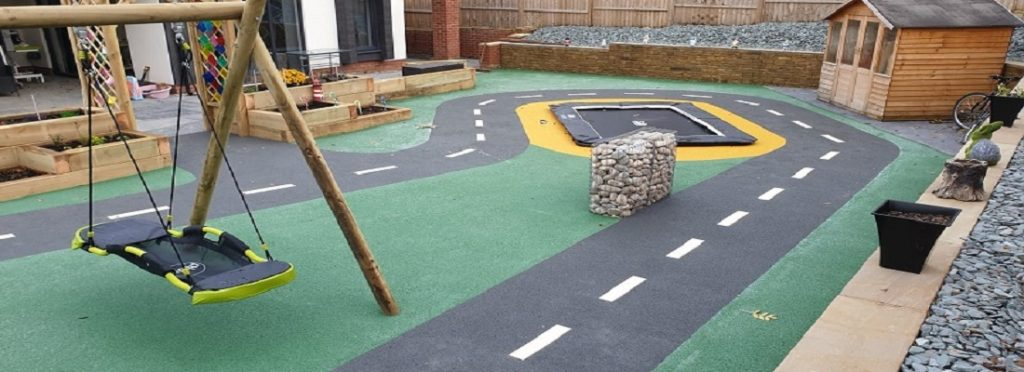 Playground Wet Pour Flooring in Northamptonshire