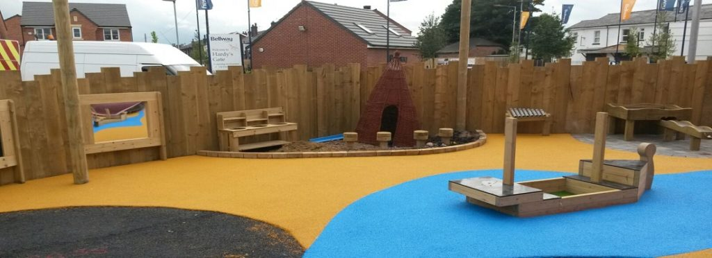 Black Wetpour and Artificial Turf Installation in Harlow