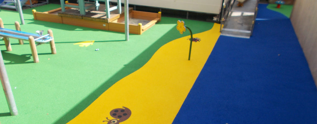 EPDM Rubber Wetpour Flooring in Newcastle, Tyne and Wear