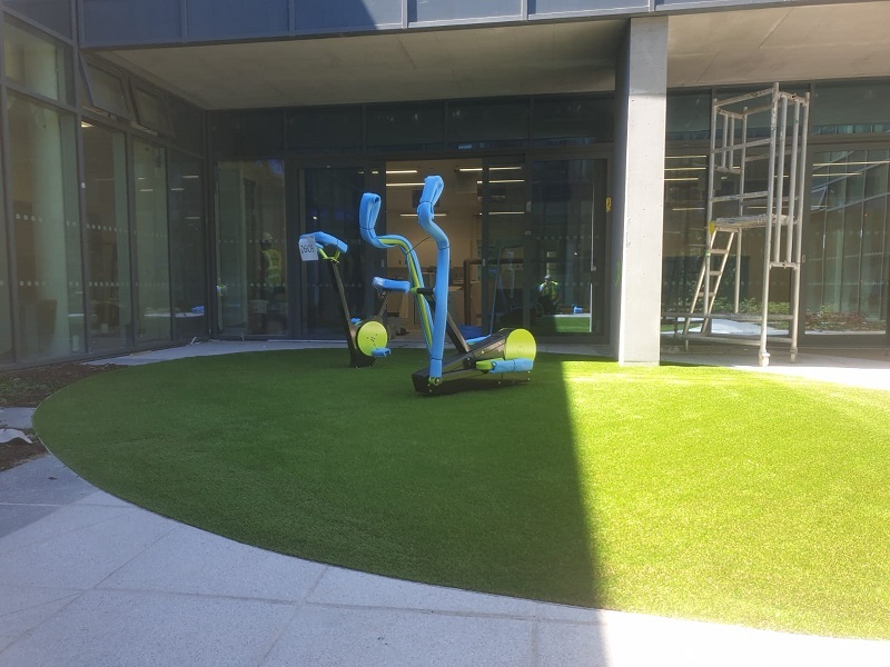 Artificial Grass with Rubber Shockpad London