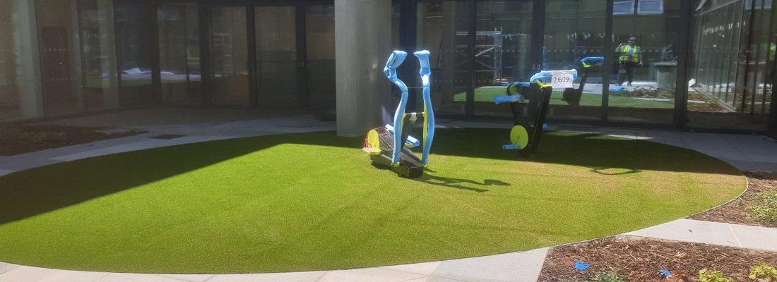 Artificial Turf with Shockpad in London