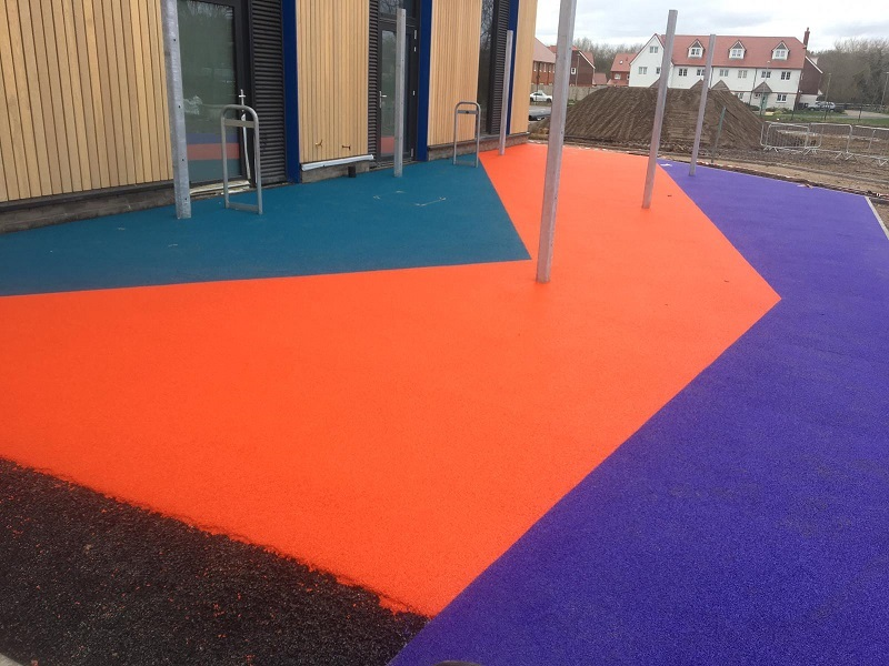 Multicoloured Wetpour Surface in York