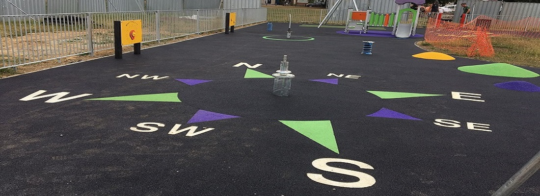 Rubber Playground Surfacing in Luton Bedfordshire