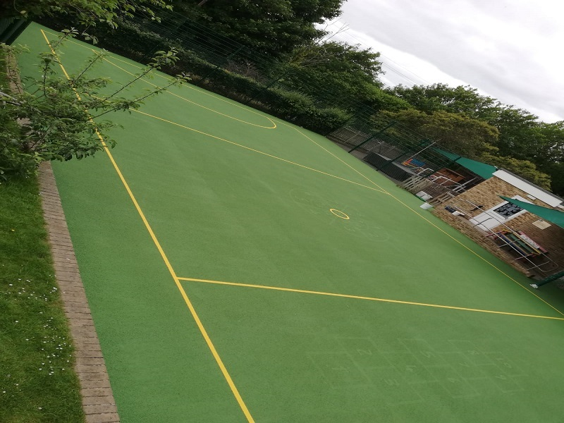 Sports Court Clean and Paint in Leicester