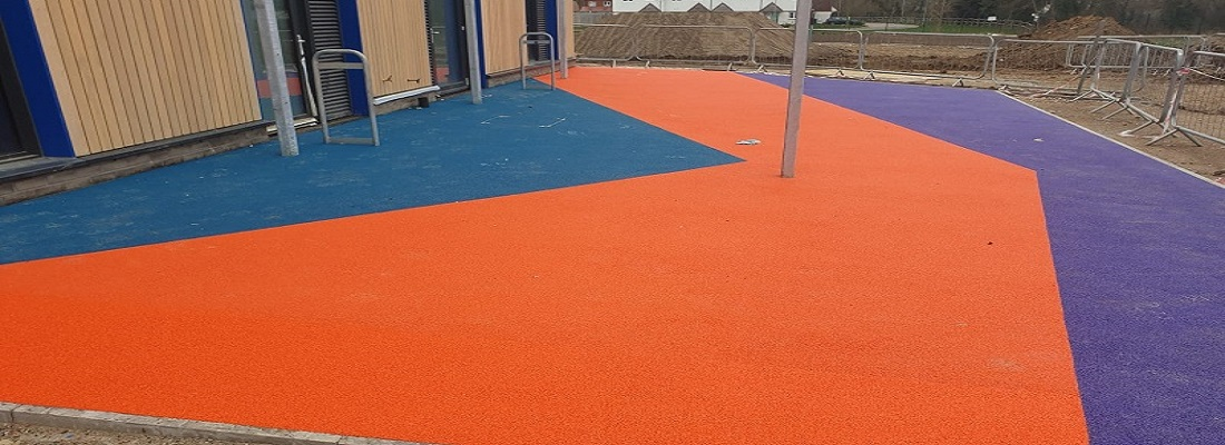 Wet Pour Rubber Surfacing Design in York