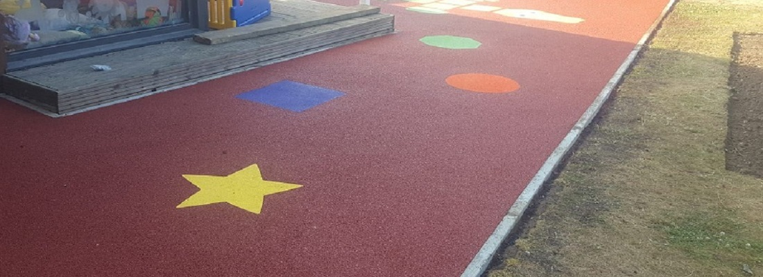 Day Care Play Area Surface in Stoke