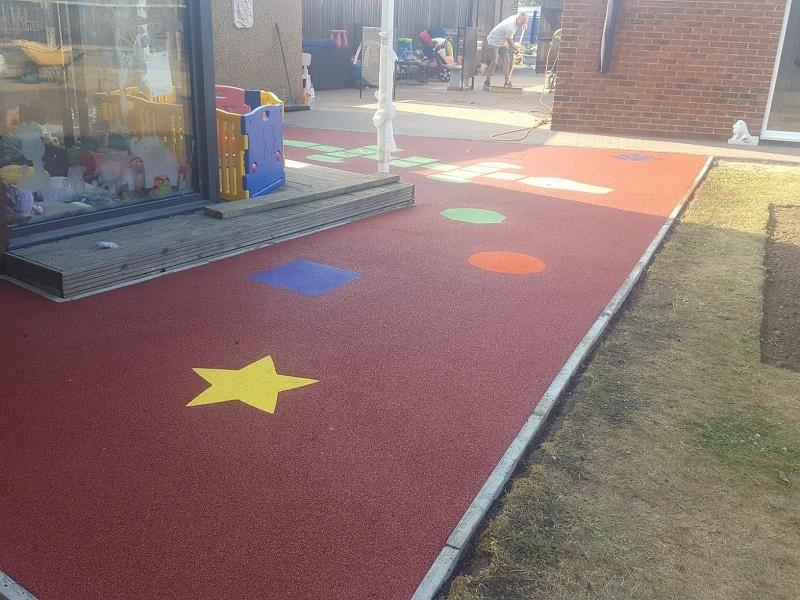 Nursery Playground Safety Surface in Stoke
