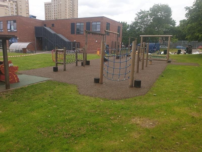 Colourful Rubber Playground Flooring Installation in Wakefield