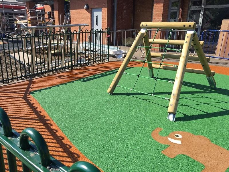 Wetpour Playground Installation in Bradford