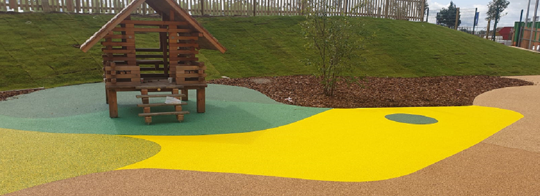 Wetpour Playground Surface in Leicester