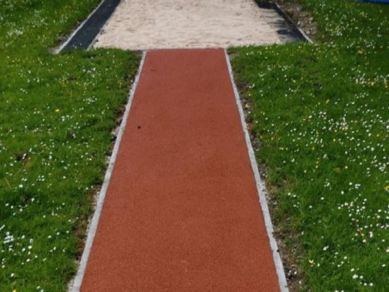 Rubber Kerbs to Athletic Triple Jump Runways