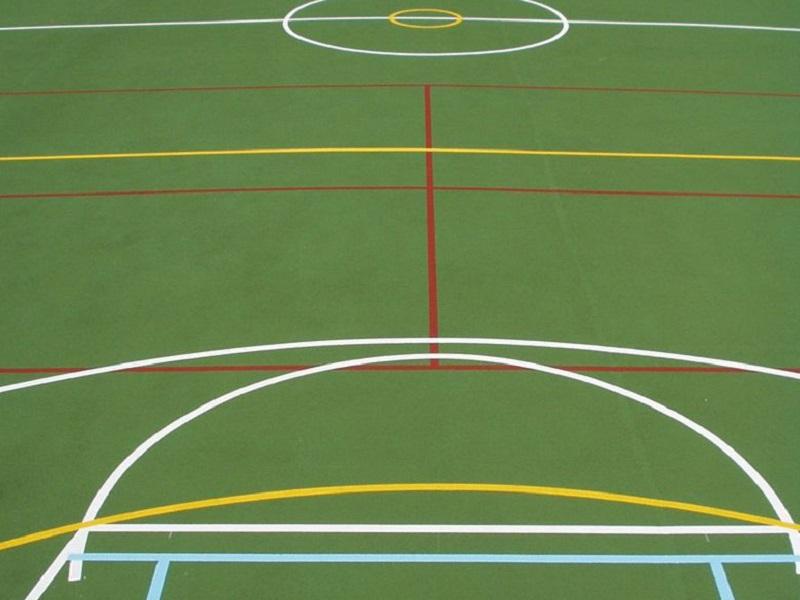 Recolouring Moisture Cure Anti Slip Paint & Line Marking to Sport MUGAs