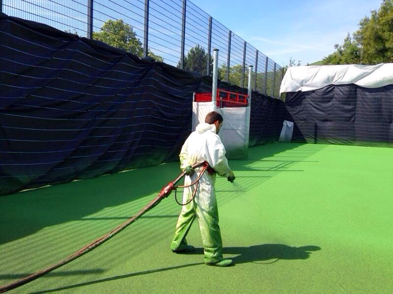 In Situ Slip Resistant Testing MUGA Sports Court