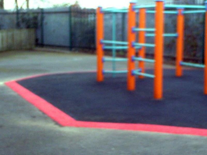 Wetpour Pathway Installation at a Retirement Home in Leicester