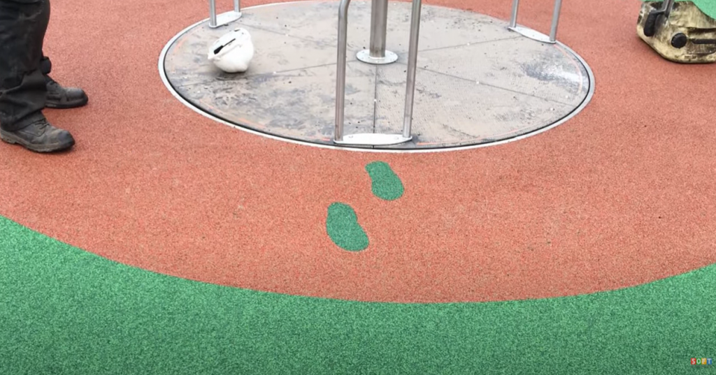 Rubber Wetpour Play Area Flooring in Bradford
